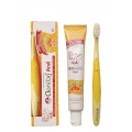 Набор детский Twin Lotus зубная паста Herbal Toothpaste Orange Flavor, 35g и щетка Toothbrush Extra Soft