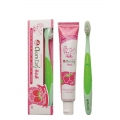 Набор детский Twin Lotus зубная паста Herbal Toothpaste Strawberry Flavor, 35g и щетка Toothbrush Extra Soft